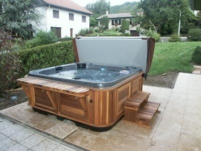 Hot Tub Bar And Stairs Outdoor Room Hot Tub Backyard
