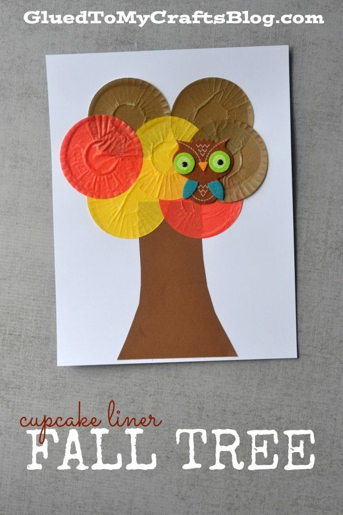 Cupcake Liner Fall Tree - Kid Craft