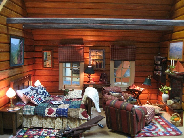 Dollhouse Miniatures - The Lodge