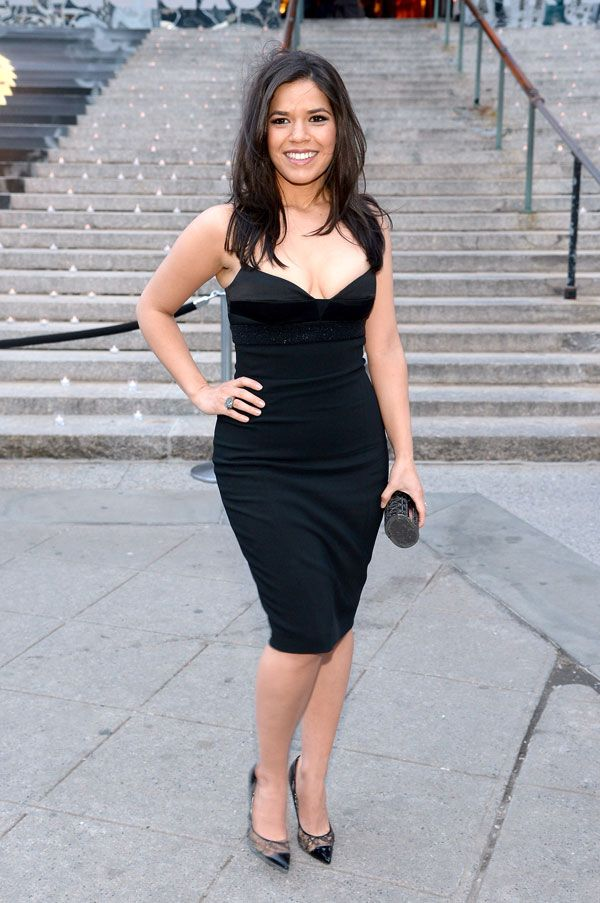 America Ferrera attends Vanity Fair's party during the Tribeca Film Festival in New York City.
