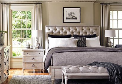 Gray and Neutral, Classy Bedroom | The Lexington Home Shop