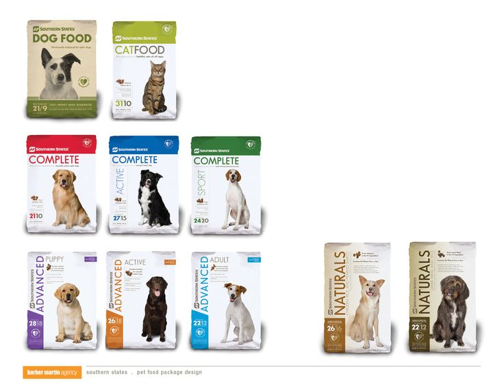 Southern States Pet Food Package Design