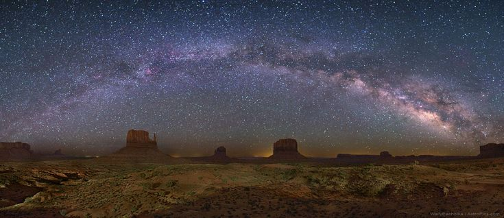Monument Valley and the night sky  Credit: Wally Pacholka