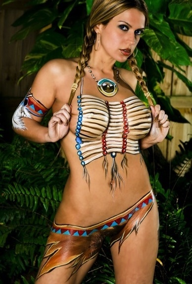 Hot Paint hot paint: native american body paint | sexy body paint girls
