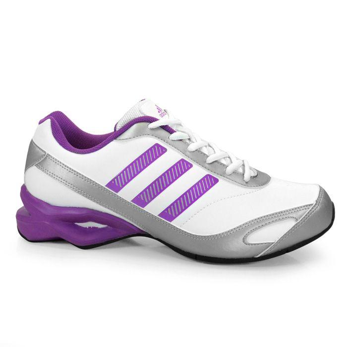 Tênis Feminino Adidas Training Laia W -  Branco/Uva/Prata