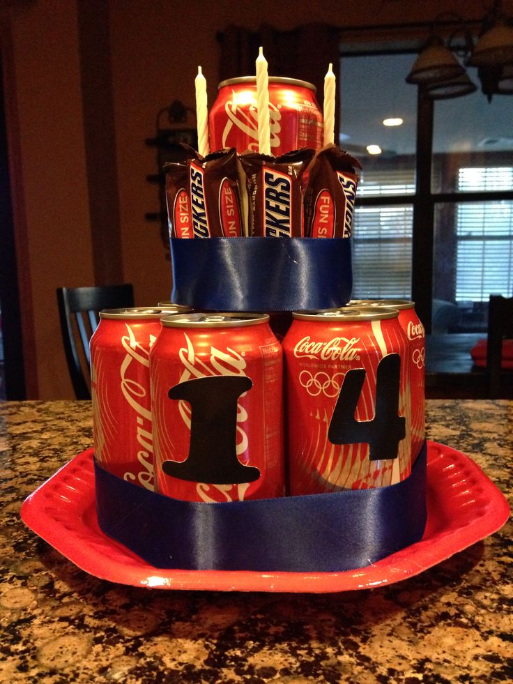 Coke And Snickers Cake For Teen Birthday Cutsies Ts