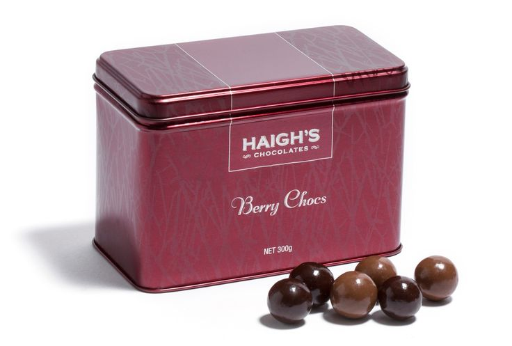 Our Berry Chocs are delicious strawberry and raspberry flavoured fruit centres first coated in creamy white chocolate and then generously encased in layers of #premium milk or dark chocolate.   This Christmas they are presented in a gorgeous red tin and ready for gift giving. Now available to purchase in-store or online.  And if you visit one of our stores before this Sunday you will enjoy a free taste!