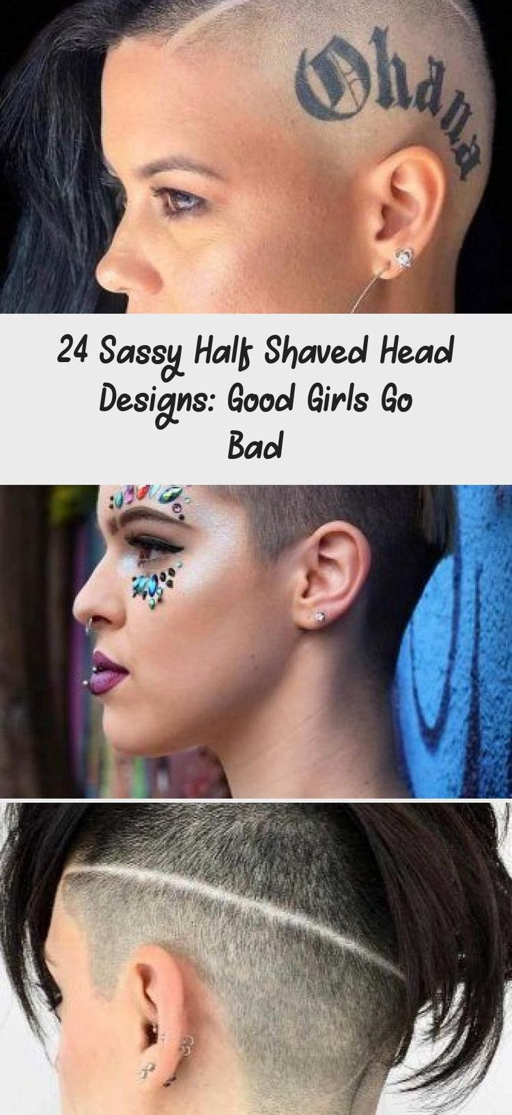 Half Shaved Head Long Waves #halfshavedhead #hairstyles #undercut ❤ Half shaved head hairstyles are designed to ruin stereotypes and let your imagination run wild. If you want to add a dramatic twist to your look while still looking pretty feminine, dive in. Awesome designs for short hair, long ideas to pair with an un
