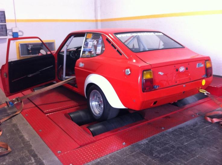 Fiat 128 coupè Gruppo 4 sul banco prova, che spettacolo!  www.elettronicabate.com