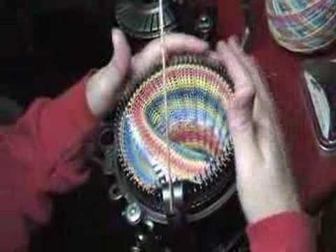 ▶ Ribbed Sock on Circular Knitting Machine (Part 3 of 3) - YouTube