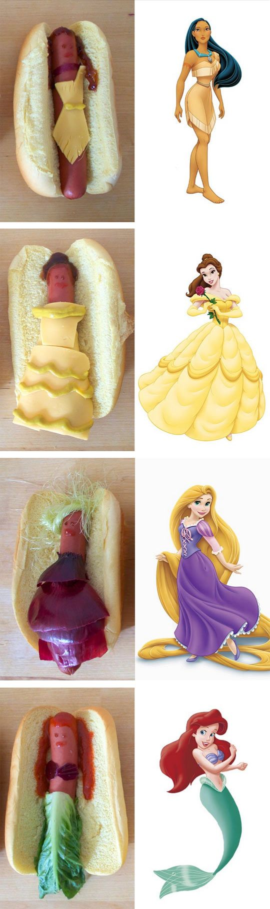 Disney Princesses As Hot Dogs