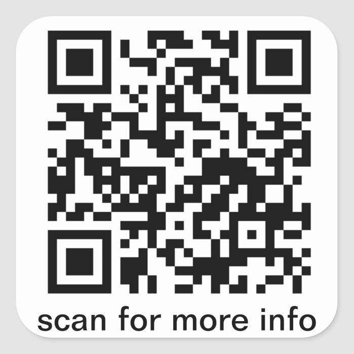 Qr Code Small Square Square Sticker Zazzle Com In 2021 Custom Stickers Stickers Create Custom Stickers