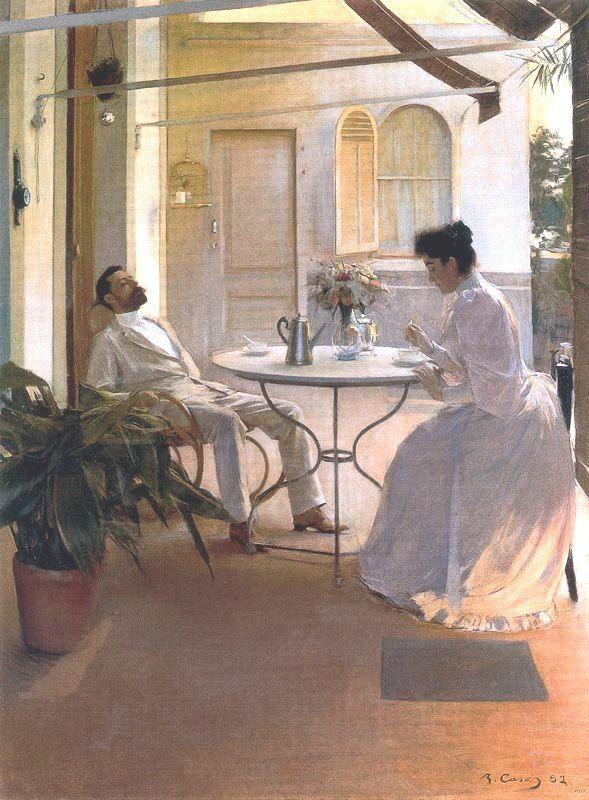 """""""Interior al aire libre"""" (1892) by Ramon Casas i Carbó"""