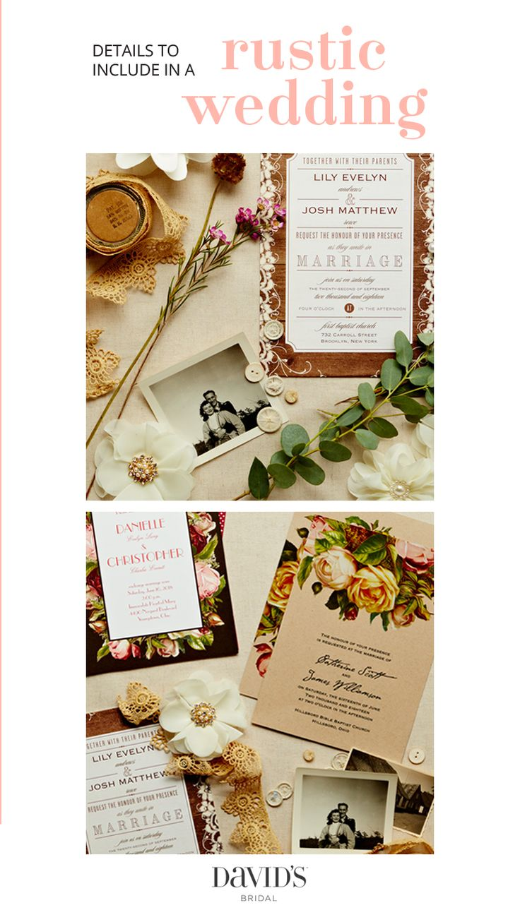 197 best images about rustic weddings on pinterest   lace, rustic, Wedding invitations