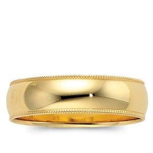 Genuine IceCarats Designer Jewelry Gift 10K Yellow Gold Wedding Band Ring Ring. Light Milgrain Band In 10K Yellow Gold