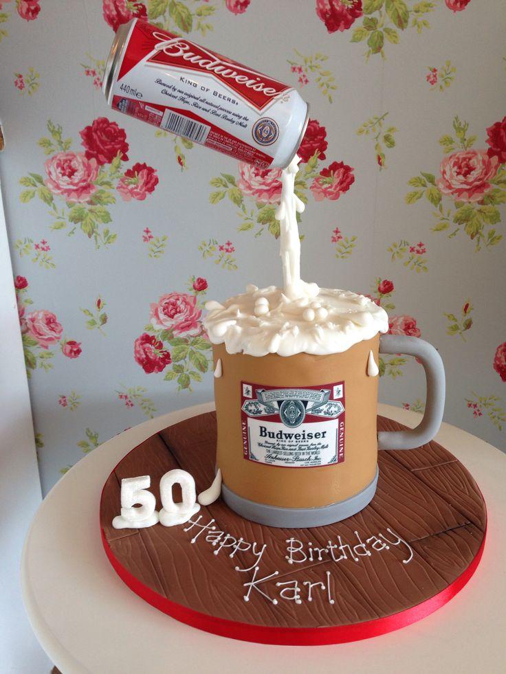 Budweiser gravity defying cake                                                                                                                                                     Plus