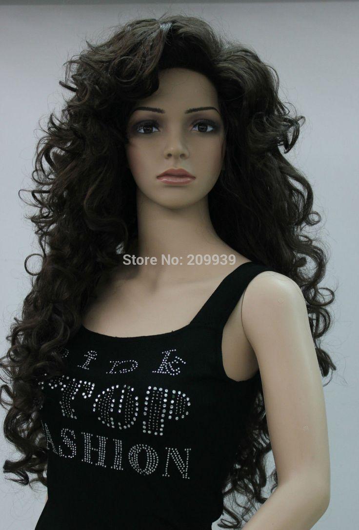 Кк 001285 потому темно-каштановый длинные вьющиеся косплей полный парик + парик Cap 5.2
