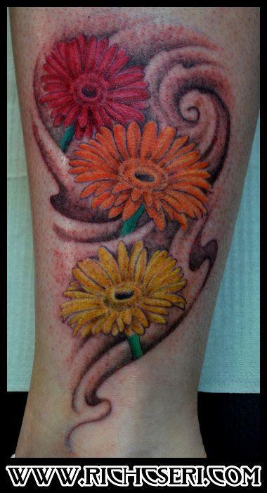 25 best ideas about gerbera daisy tattoo on pinterest for Daisy of love tattoo sleeve