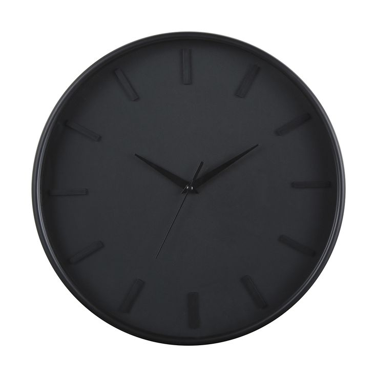 Black Wall Clock | Kmart