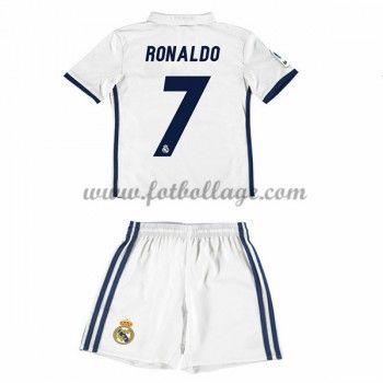 Real Madrid Fotbollströjor Barn 2016-17 Ronaldo 7 Hemma Matchtröja