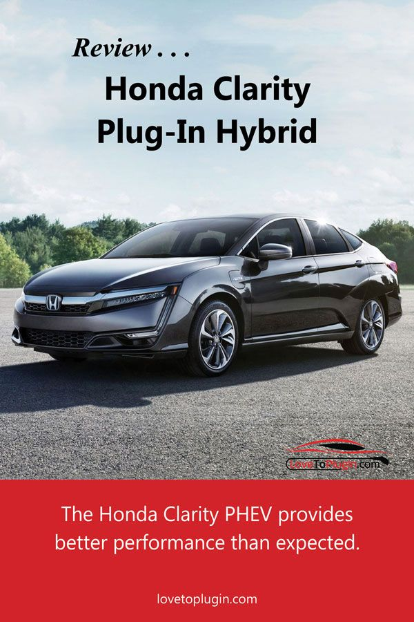 Review Of The Plug In Honda Clarity Electric Cars Plugs