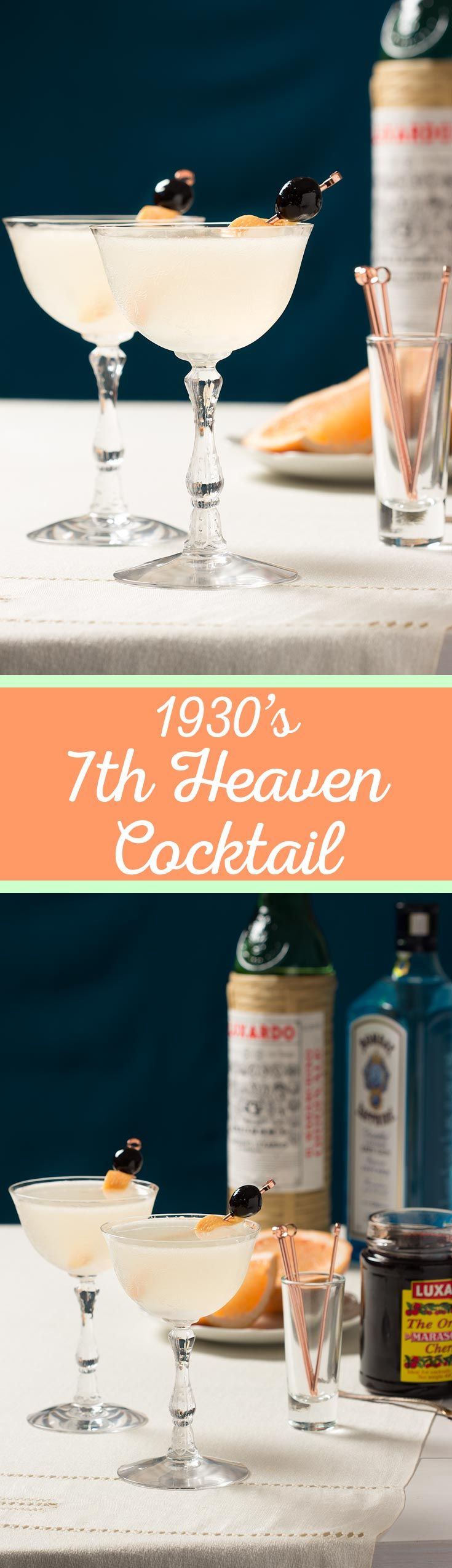 1930's Seventh Heaven Cocktail  Perfect For Your Next Vintage Party, This  Version Of The