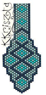 'Mano' diseñador de joyas de perlas de joyería artesanal: peyote muestra / patrón