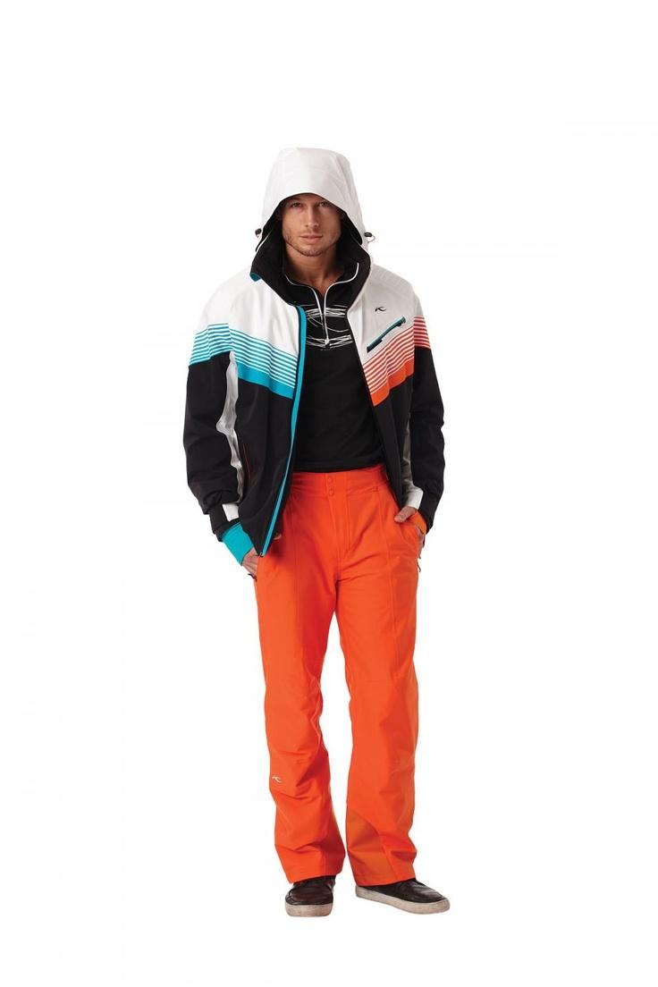 KJUS: Look 1 Jacket: Warp Speed, black, red-orange ...