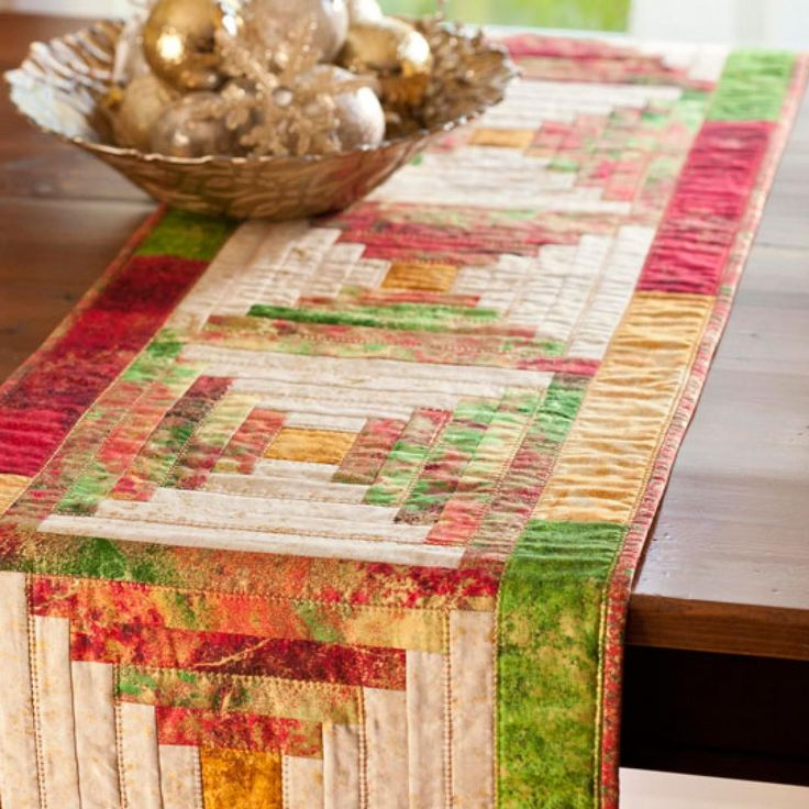 Create Five Courthouse Steps Blocks In Cheery Holiday