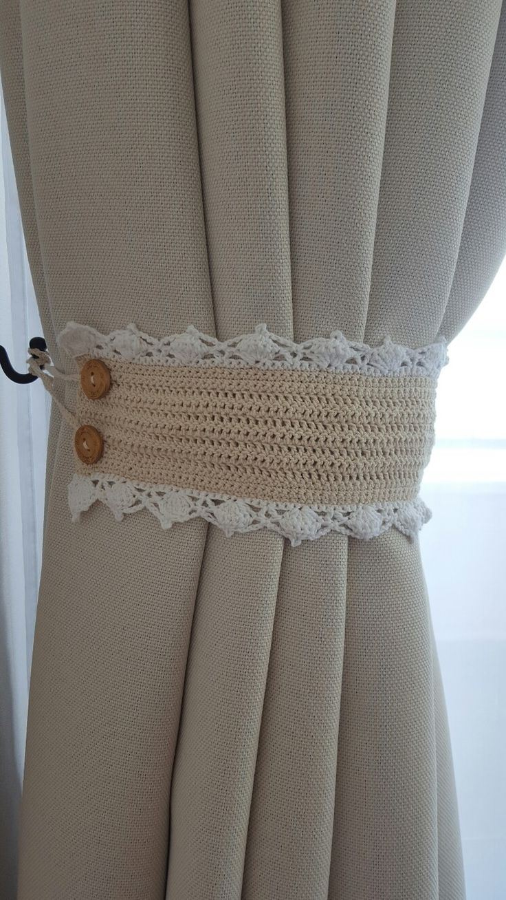 Sujetador cortinas a crochet