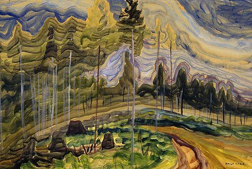 Emily Carr, Langford, 1939, oil on paper