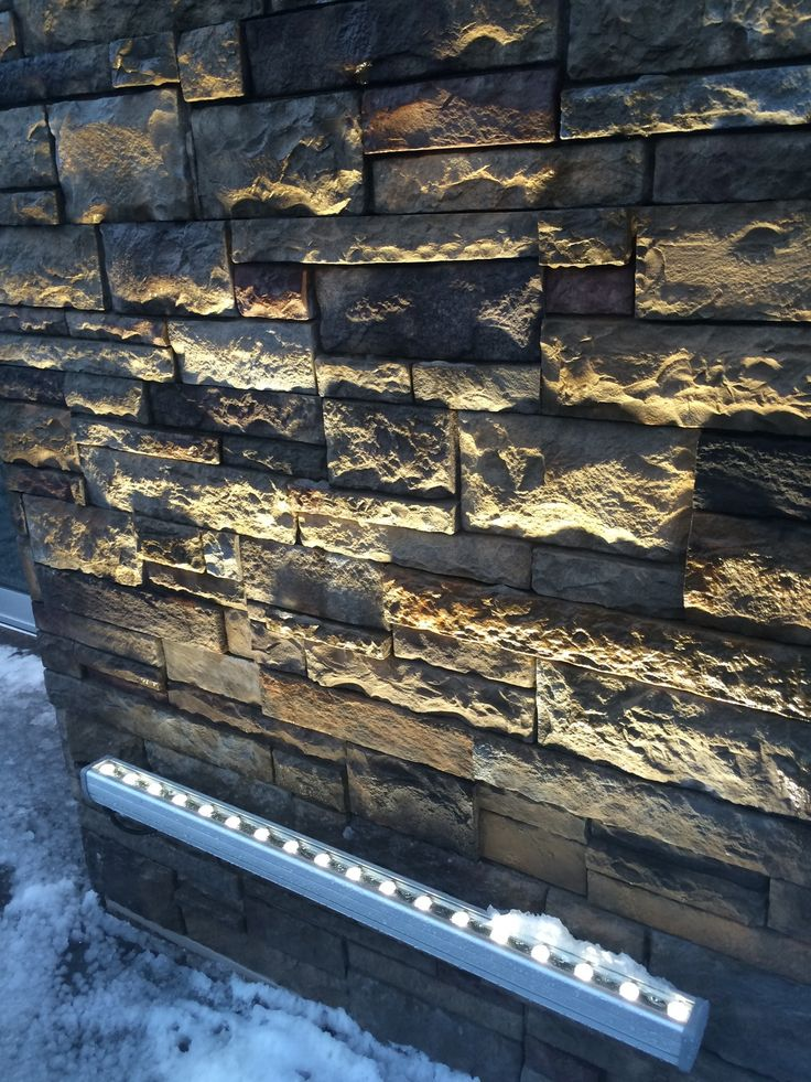 Versetta Stone available at HubCraft Timber Mart. Use on exterior or interior! Check out how the light bounces off of it!