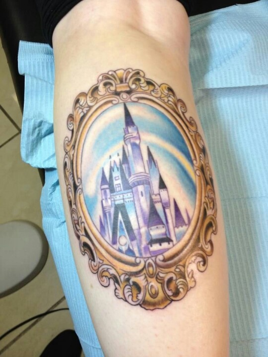 Disney castle tattoo i would getting sleeping beauty 39 s for Disney world tattoos