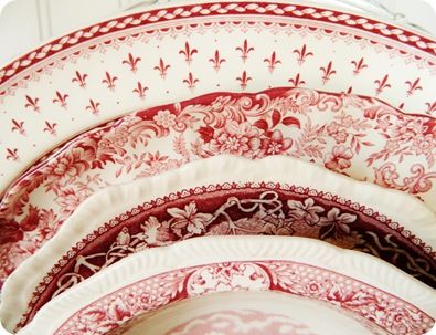 I love Red Transferware! I like combining the different patterns. Transferware Collection