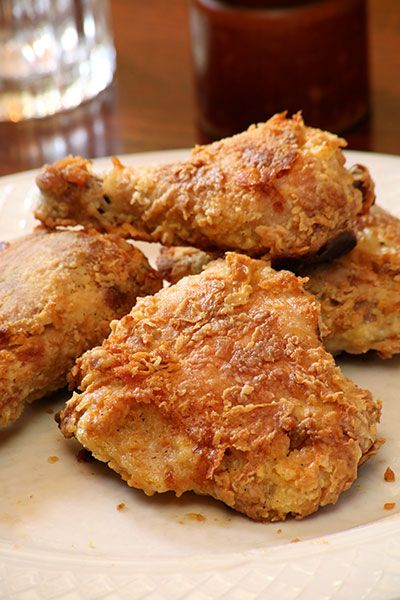 Amish Baked Fried Chicken - Momma really liked this. Was easy but not as flavorful or crispy as I would have liked. Next till marinate in buttermilk first, increase salt, and drizzle butter over chicken.