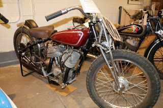 OldMotoDude: 1936 Indian Scout Flat Tracker on display at the F...