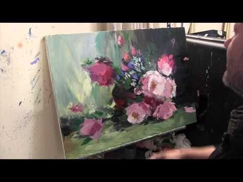 Букет цветов, научиться писать цветы, уроки масляной живописи, художник Сахаров - YouTube
