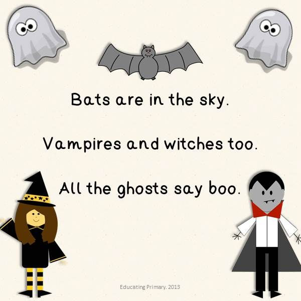 Halloween Haiku example  Part of my Halloween Poems Pack. My first TpT product.  http://www.teacherspayteachers.com/Product/Halloween-Poems-Pack-879091  http://educatingprimary.blogspot.co.uk/2013/09/halloween-series-poems-pack.html