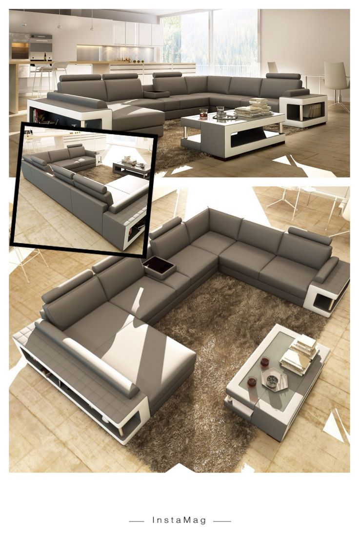 grey and white leather sectional sofa w coffee table features a durable longlasting