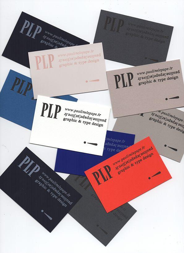 Pauline le Pape letter pressed business cards