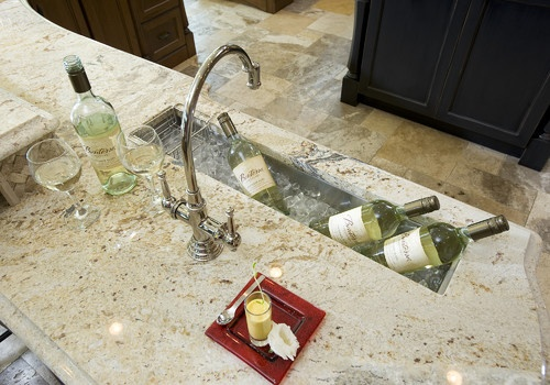 Bar Sink Used As A Cooler Would Love That For Basement
