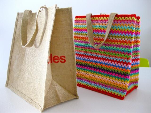 crochet grocery tote bag #diy #crafts