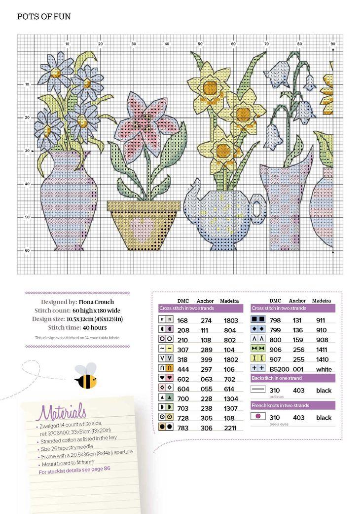 Pots Of Fun Cross Stitcher N°307 July 2016 3 of 4