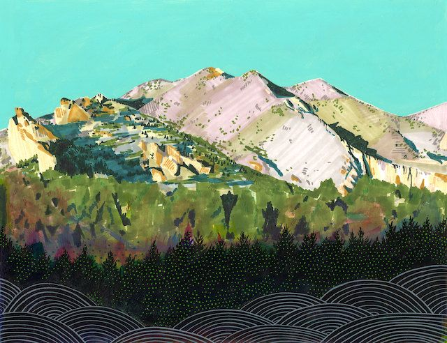 Rain shadow,   I'm jealous of the beautiful moutains, for they have bound my beautiful best friend.@Ariella Kai