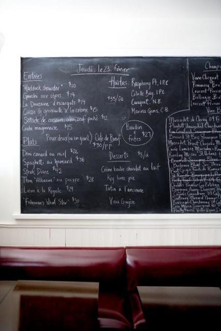 Joe Beef in Montreal - known for its handwritten menu. #cultureclub