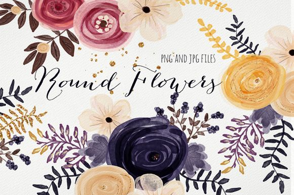 Round Flowers by Webvilla on Creative Market