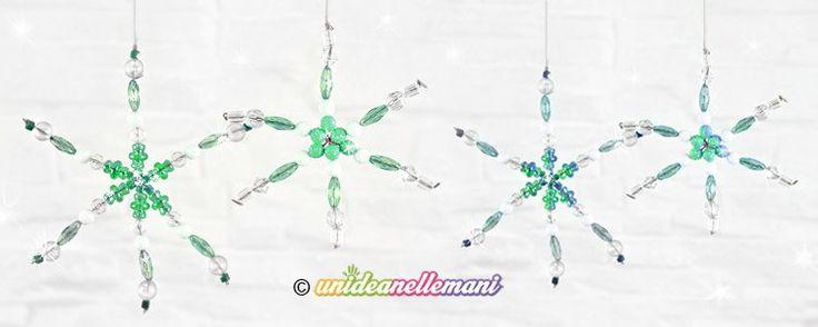 Un tutorial come non lo hai mai letto. La sora Gigina ci spiega come fare cristalli di ghiaccio - fiocchi di neve con le perline, da usare come decorazioni di Natale. Grazie sora Gigina!