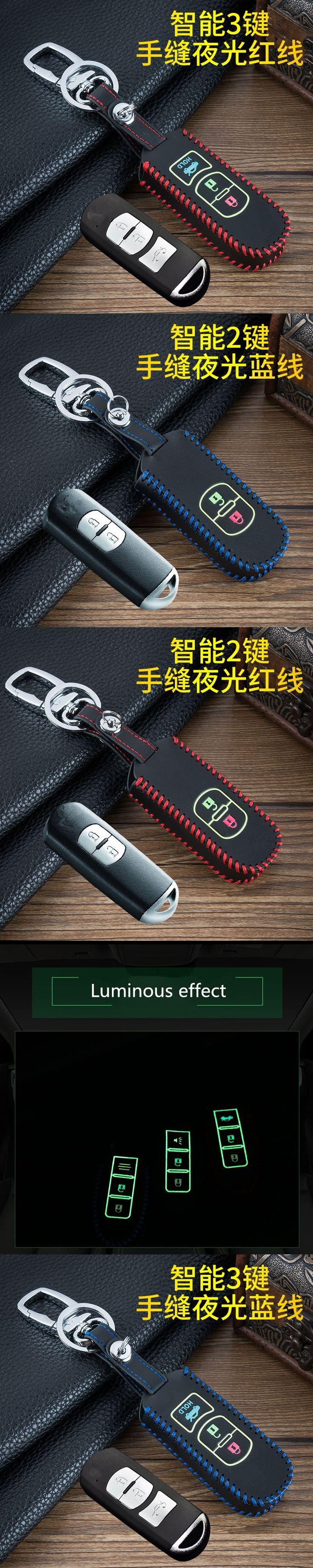 keychain Car Luminous Leather Key Chain Case Cover For Mazda 3 2 5 / Mazda 6 Axela CX-3 CX-5 CX5 CX7 CX-7 CX-9 RX8 Car Style