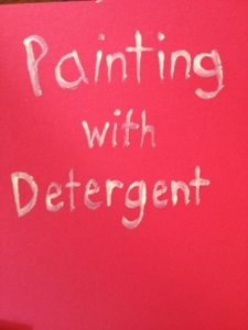 Painting with Detergent @ TheHappierHomemaker.com