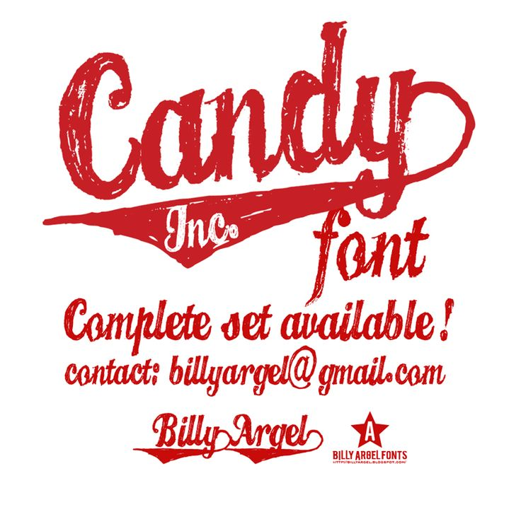 billy argel ... candy inc. font